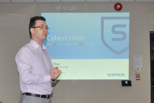 Nick Ross of Sophos, presenting to Chiltern Chamber