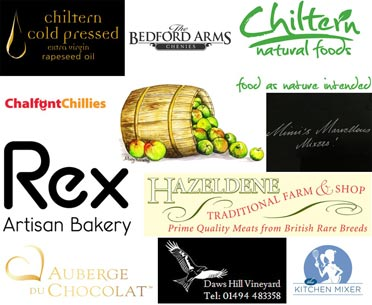 brands represented at chiltern chamber food evening 2016