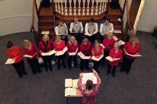 carols sung by Panda Players for Chiltern Chamber