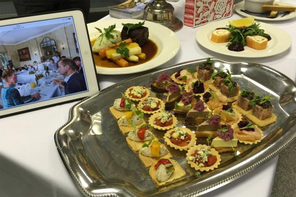 Bedford Arms Canapes at Chiltern Food Heroes event April 2016