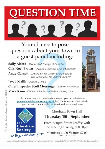 Chesham Soc Question Time poster