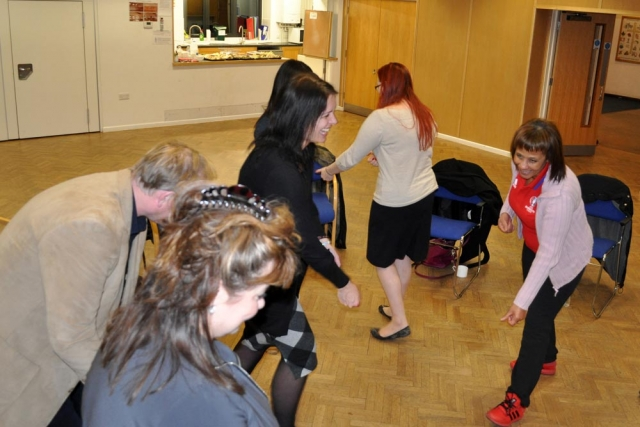 imaginary hoovering at Chiltern Chamber laughter yoga networking session
