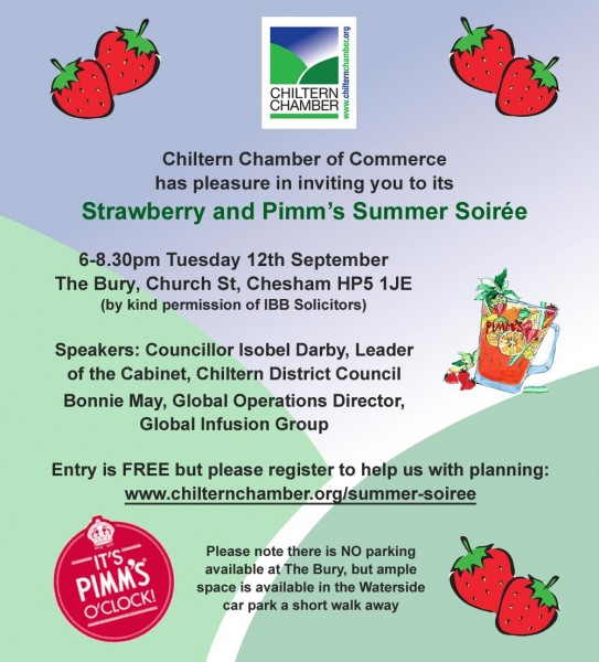 Invitation to Chiltern Chamber Summer Soiree